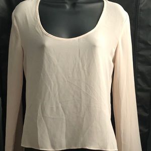 Tops - NWOT Stunning Sheer Long-sleeve Top with Open Back